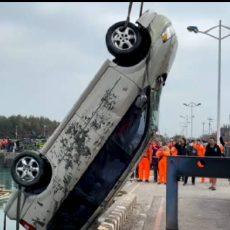 布袋第三漁港驚傳車輛落海  60歲男性無生命跡象